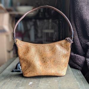 Paisley Tooled Leather Purse